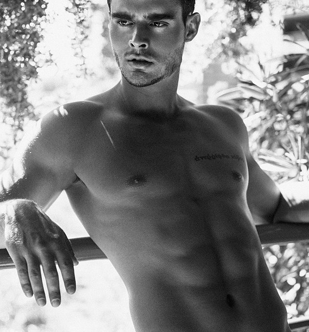Introducing for the first time, male model Christian Olivo with 6'1 exquisite male figure and hazel eyes represented by The Agency Arizona. Pictures by Michael Franco.
