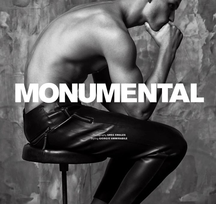 """Archetype presents a high fashion editorial entitled """"Monumental"""" captured by Greg Swales and styled by Giorgio Ammirabile."""