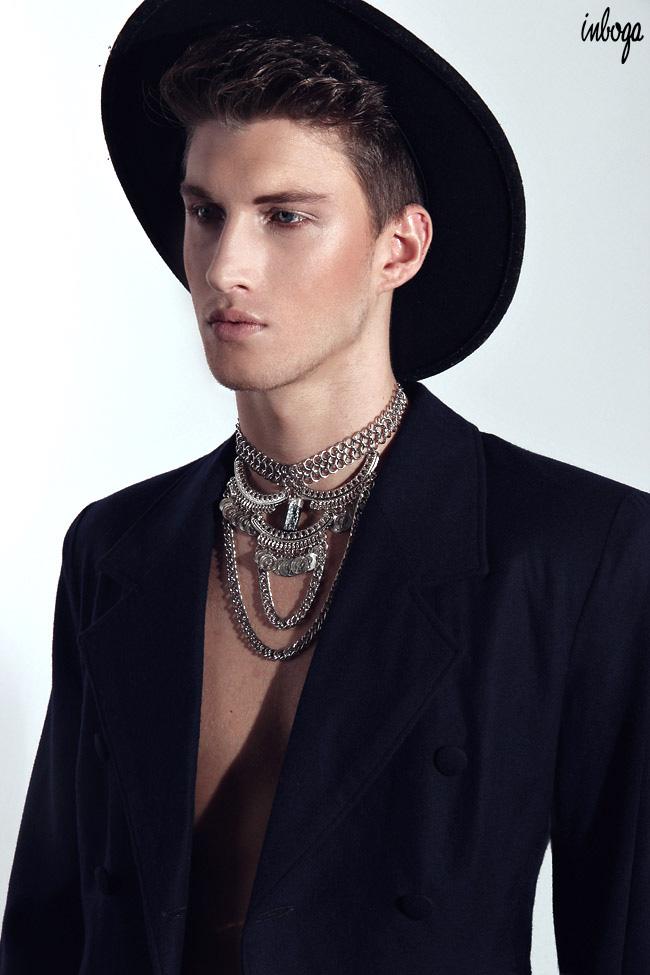 Model Juan Manuel Oubina at DHR Models by Diego Restivo for Inboga Mag