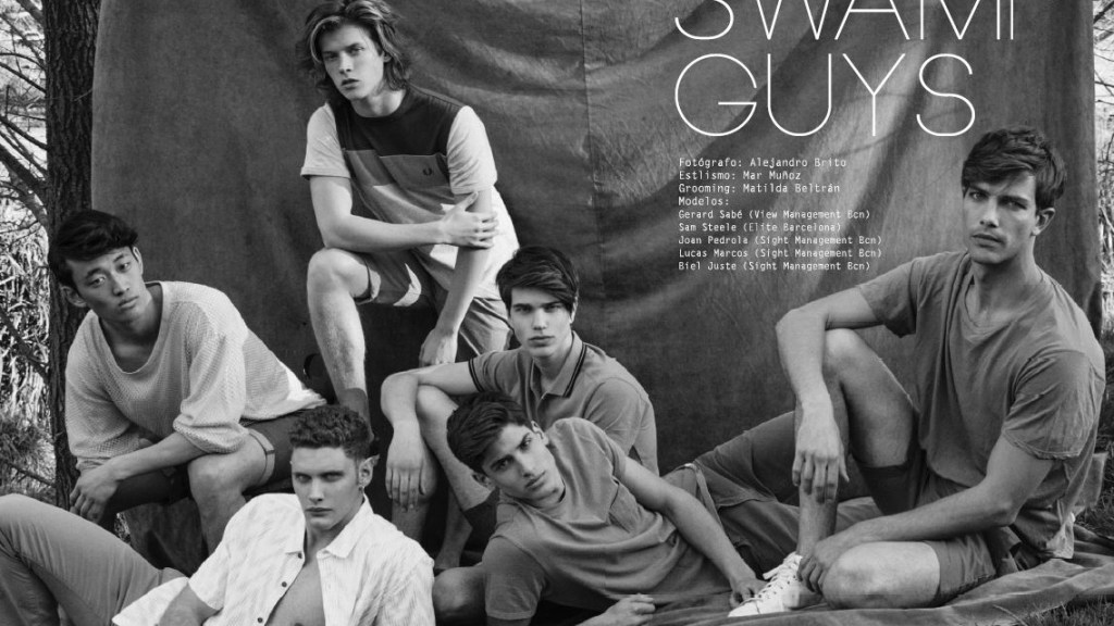 """Swap Guys"" is the story captured by Alejandro Brito for Risbel Magazine, styled by Mar Muñoz, models are Gerard Sabé at View Management BCN, Sam Steele at Elite BCN, Joan Pedrola, Lucas Marcos and Biel Juste at Sight Management BCN."
