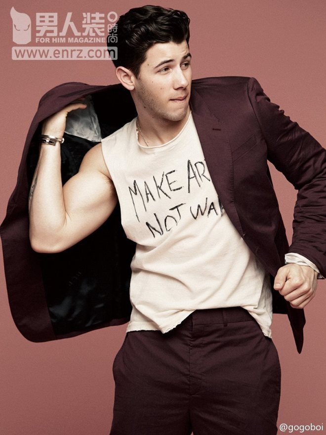 Nick Jonas for FOR HIM MAGAZINE Collection SS15 Issue