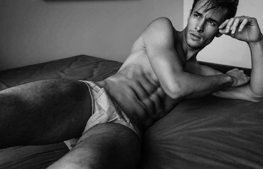 Brazilian stunner, Renato Freitas, at Fly Models Brazil updates his model book with a beautifully captured B&W series by photographer Ronald Liem in Jakarta.