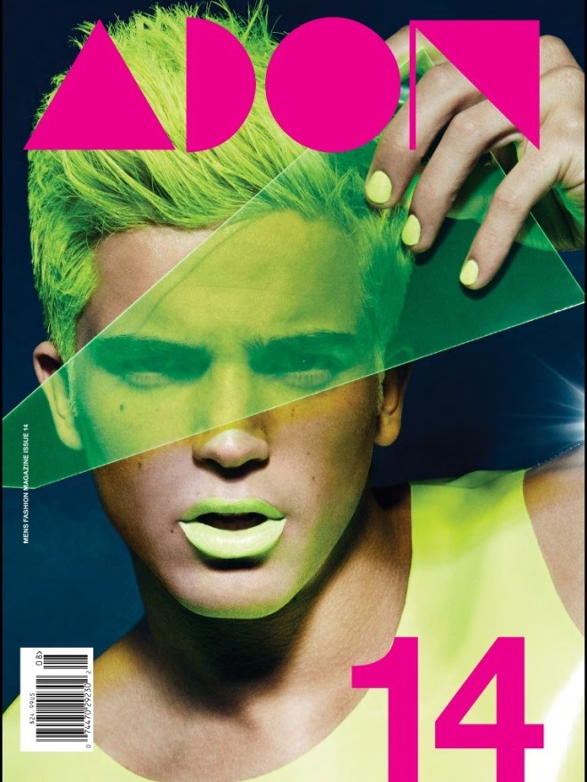 Every issue from ADON is getting better and better, the issue #14 fronts top male model River Viiperi with a photography by Vijat Mohindra. Stylist: Sammy & Judy Hair: Lorenzo Calderon.  Makeup: Kip Zachary.