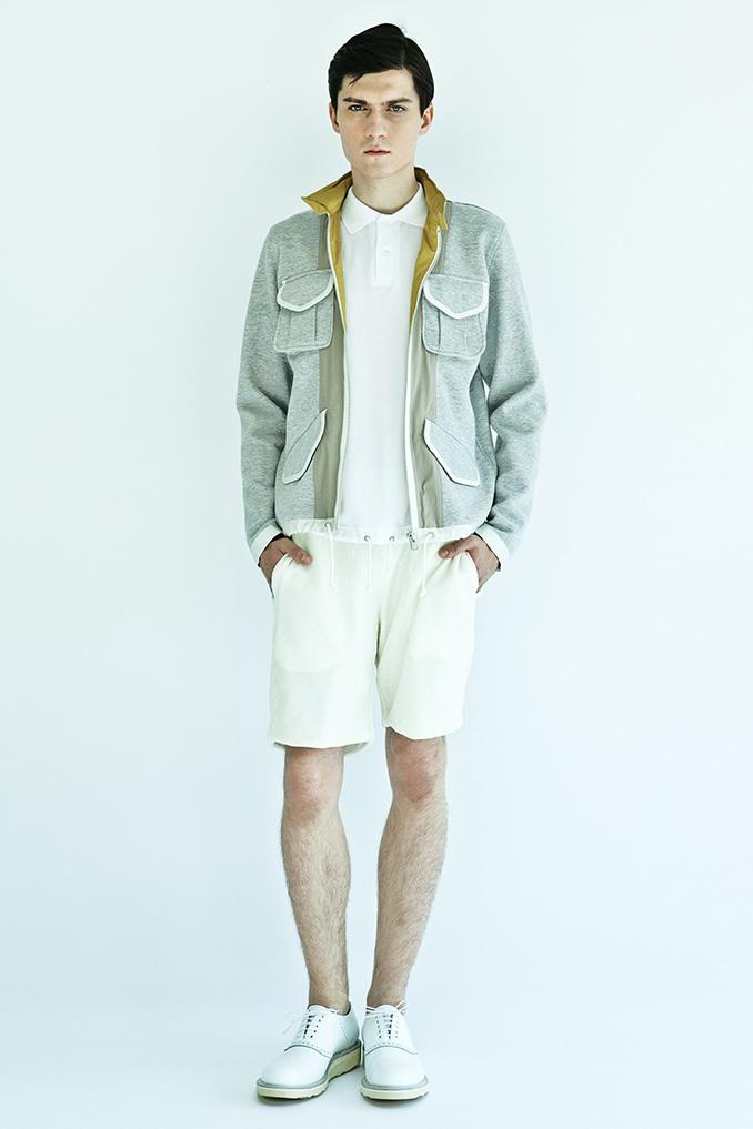Impeccable casual men's lookbook from 08sircus SS15 from Japan kiminorimorishita garments lab inc.