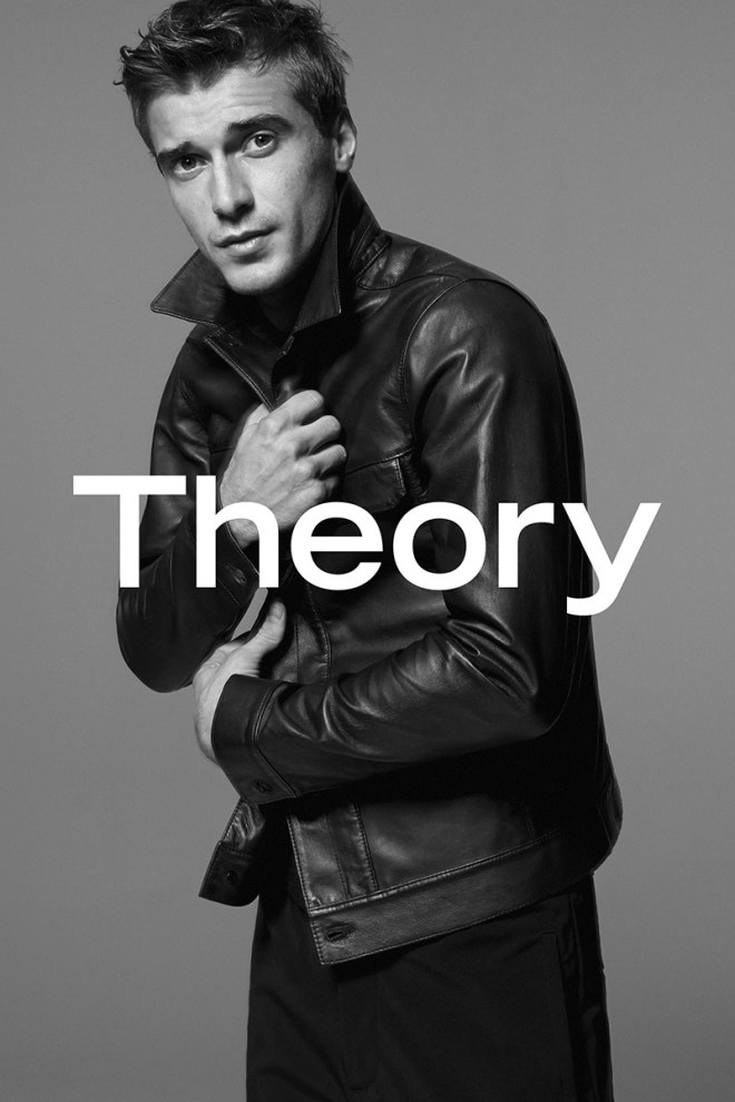 Model Clément Chabernaud fronts Theory S/S 2015 Men's Campaign