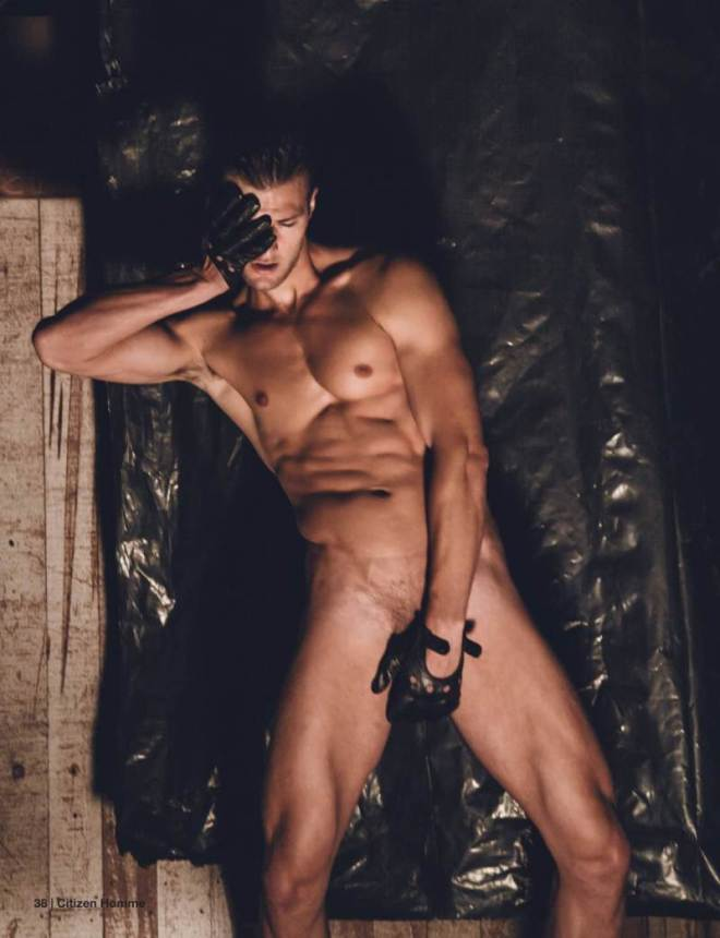 Model Dan Murphy lands on the covers of the debut issue of Citizen Homme magazine, appearing before the lens of photographer James Demitri. Showing his sculpted body on the pages of the magazine, Dan easily strips off for the camera, causing a lot of body envy between us.