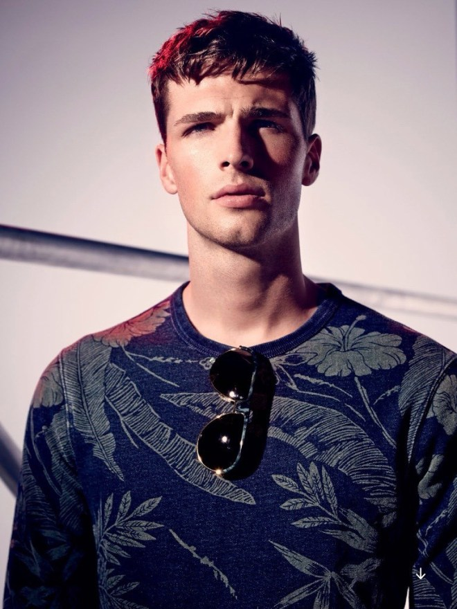 British model Edward Wilding lands on the pages of the July issue of Esquire UK, starring in a new editorial, lensed by photographer Diego Merino.