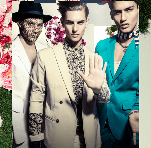"Playhaus Magazine presents its new issue #4 coming out next week, Issue 4 is a Spring/Summer 2015 with dual cover. This first cover and story entitled ""Fauna + Flora"" photographed by Martin Brown, with guys Models: Russell Giardina @ IMG/Masood Ahmad @ Fusion/Louis Mayhew @ DNA all styled by Chaunielle Brown"