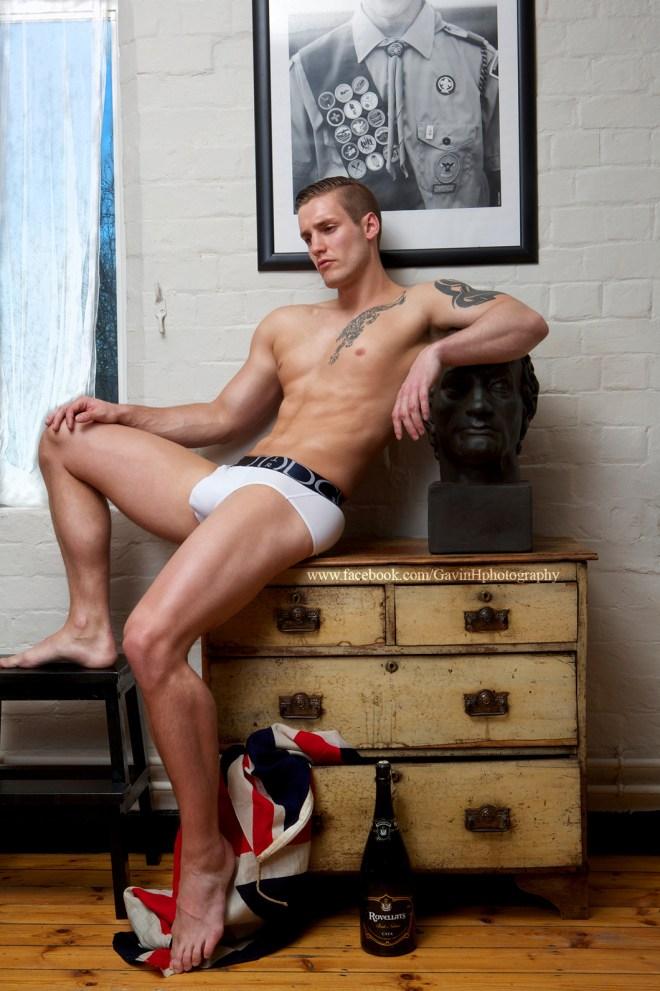 Photographer Gavin Harrison did some underwear shots with Shane for Miami Living Magazine.