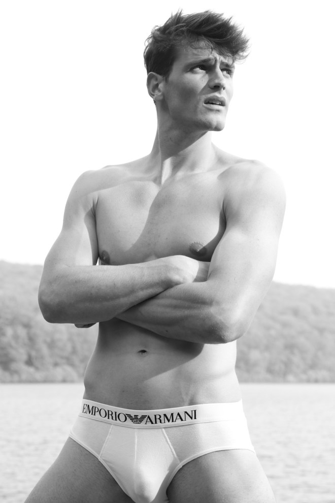 The dashing new model Sach hits the beach for a radiant session by renown photographer Michael Del Buono.