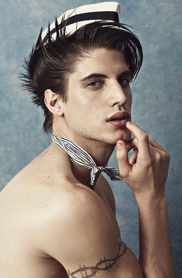 For his new portrait series, photographer Leonardo Corredor connects with model Santiago Ferrari, who plays the role of the charming sailor