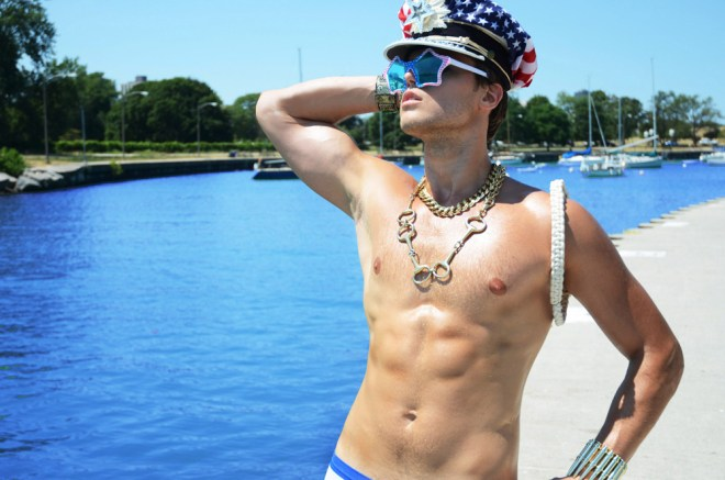 """Happy 4th of July to all my American friends, to honor this Independence day, we have a new work by Nestor Photography worked on for the Holiday weekend entitled """"Americano"""" with dashing new face Alex T. Styled by Nestor and Randall Hill."""