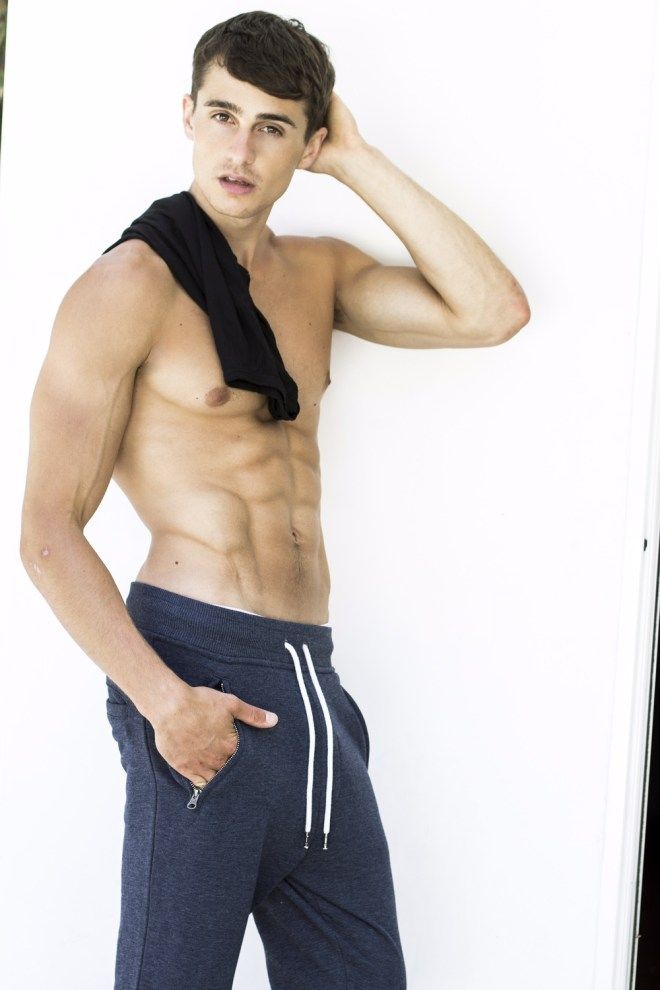 Handsome American male model Daniel B. with 6'0 is represented by Wilhelmina NY and LA Models, gets fresh snaps by talented Sonny Tong.