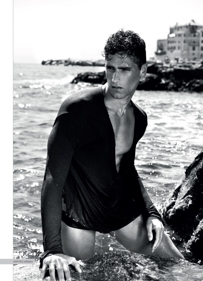 Fabio Mancini in LA GRANDE BELLEZZA editorial cover for David Magazine Spring Summer 2015