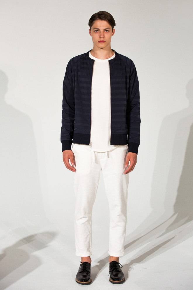 For Spring/Summer 2016 Matiere embraces the concept of duality through the use of unexpected materials on modern silhouettes creating a collection that is both familiar and conceptual. Together the textural fabrics and technical details harmonize to form a contemporary collection of comfort and function. A clean palette of optic white, oceanic blue and dusted grey complements this season's textured modernism for an inviting dichotomy that innovates and excites.