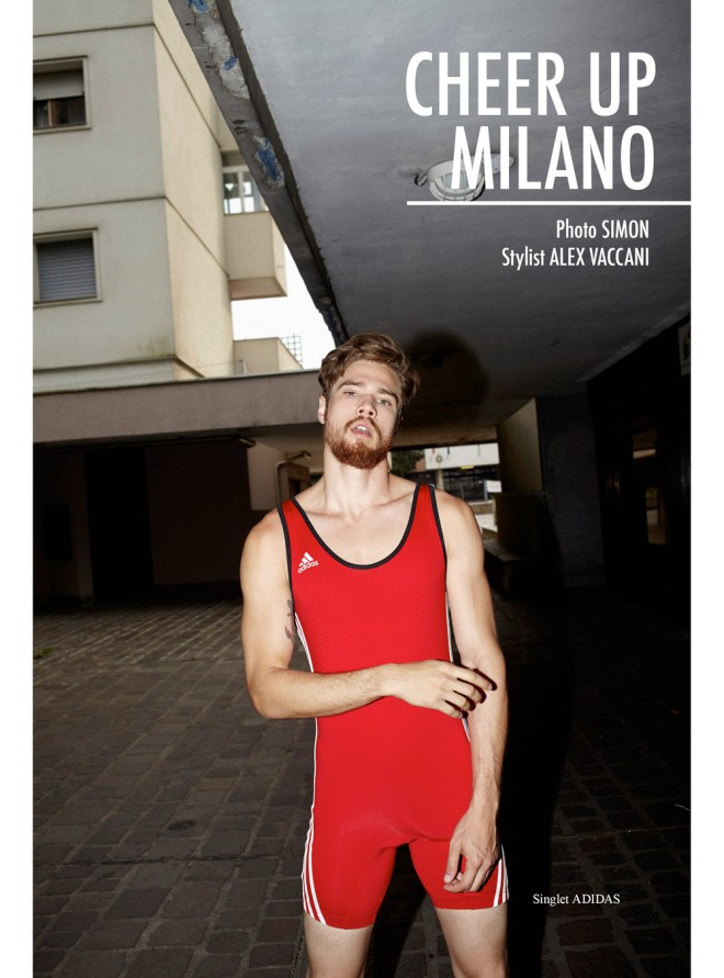 "Fashion webmagazine TOH! #22 spreads a new story ""Cheer Up Milano"" with model David Martins captured by Simon and styled by Alex Vaccani."