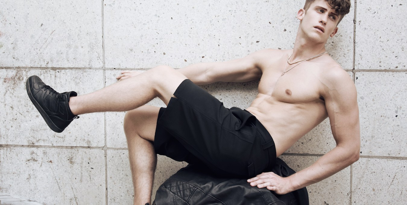 """Here's the work of Sebastian Simanowski, an editorial and fashion photographer from Berlin with talented male model Michael Thiedemann from EastWestModels. Entitled """"Backyard 105"""" photographer Simanowski also styled and groomed the presented work. Clothing used by Zara, Cos, Calvin Klein, Topman, Saint Laurent, Weekday and accessories made by photographer."""