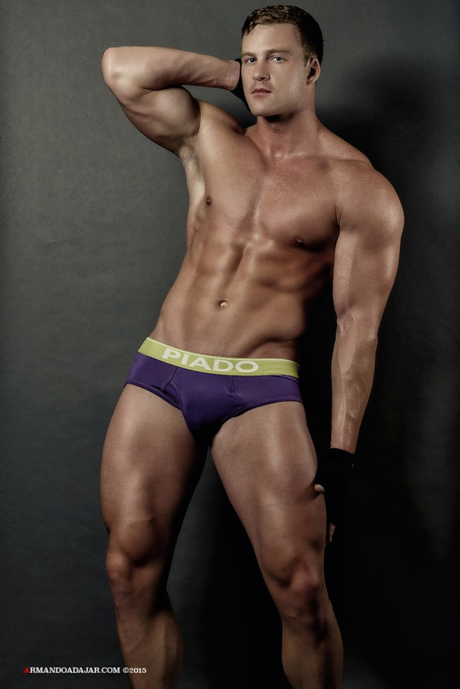Let's get workout! here's our Monday Motivation with fitness male model Alex Cairns shot by Armando Adajar, Alex is modeling PIADO underwear, and you better look fit to wear them.