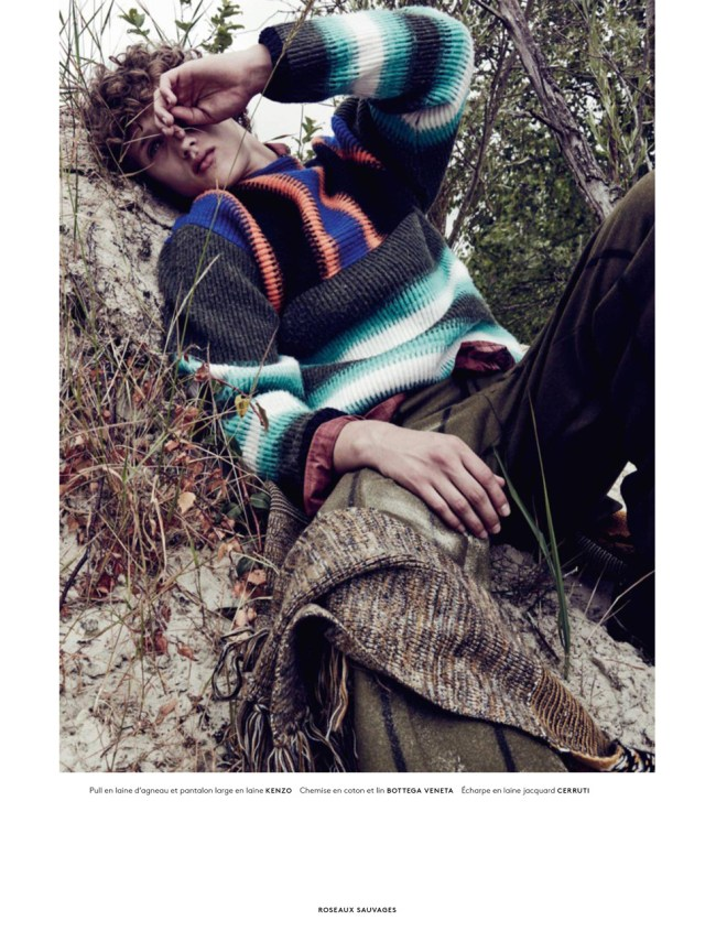 """Stunning photography by Sharif Hamza """"Roseaux Sauvage"""" is the new fashion editorial available on Vogue Hommes September 2015. Realization by Darcy Backlar."""