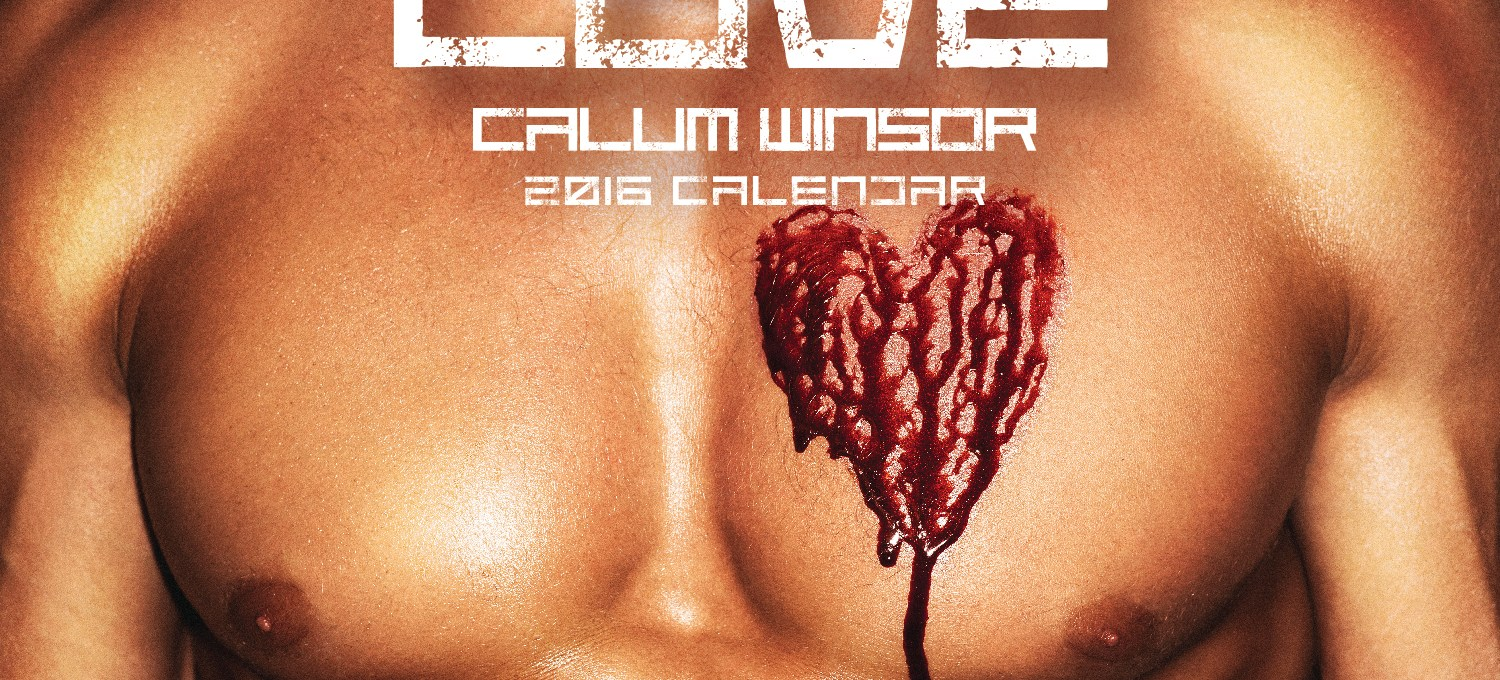 Model Calum Winsor launches a sexy 2016 calendar and here's a preview
