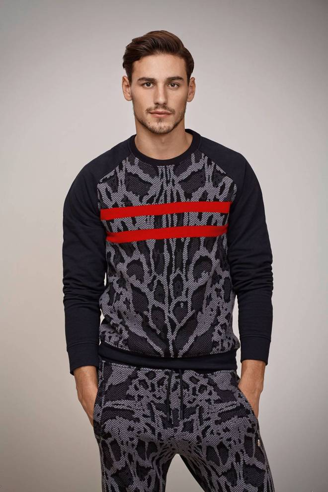 Italian luxury fashion brand Roberto Cavalli  shows off Fall/Winter 2015 Gym Look Book starring Mariano Ontañon. Sports gear by fancy guys, oh yes!