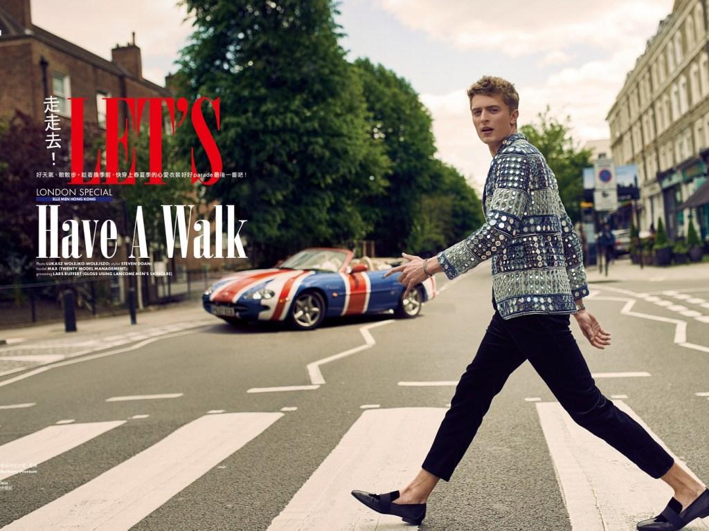 """""""Let's Have a Walk"""" Max Rendell by Lukas Wolejko-Wolejszo for ELLE Men UK. Styled by Steven Doan and grooming by Lars Rüffert."""