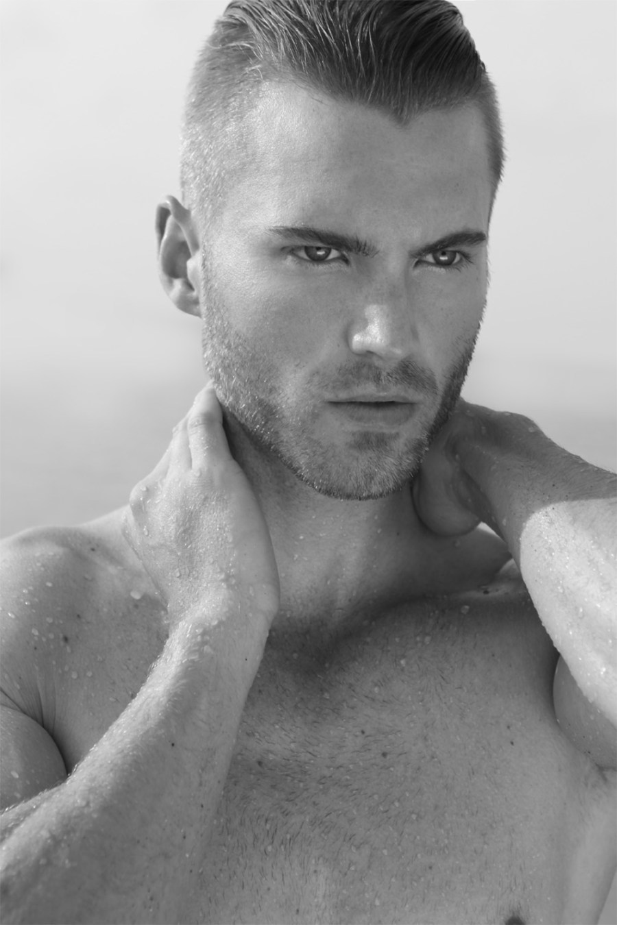 Introducing formal male model Tommy Bradshaw at Ford Models posing in stunning shots by Michael Dar.