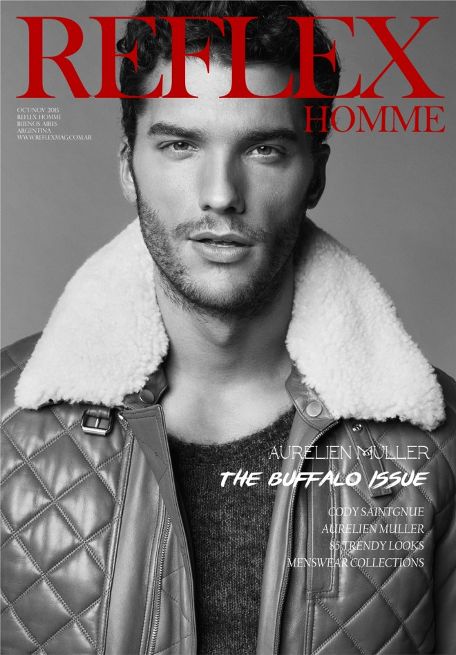"Back to work, ""The Buffalo Issue"" at Reflex Homme blunts the rise with 4 new covers October/November 2015 editorials. We hope you can really enjoy the work, we have Aurélien Muller (New Madison) photographed by Yuji Watanabe, styling by Fleur Huynth Evans at The Art Board."
