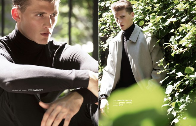 Men Moments presents a very amazing portrait of male model David Binoth shot by Brent Chua. Styled by Eric McNeal, Fashion Editor by Nuno Bacelar.