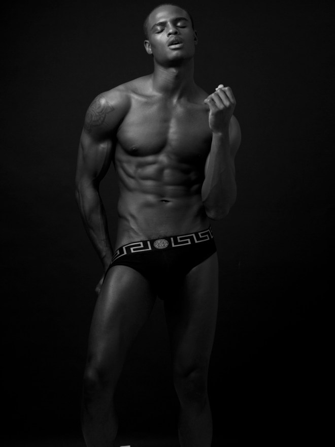The striking Isaiah Hamilton stars a hot and raw  B&W plus full color new images by photographer Karl Simone.