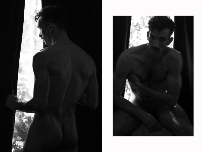 Intimate portrait with stunning male model and actor Luis Felipe Castillo a newcomer beautiful lad posing for René de la Cruz.