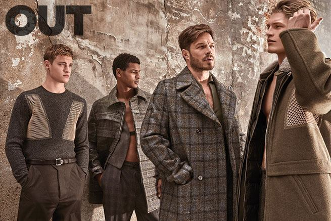 Cover, Cover Story, Editorial featuring Matt Threthe, Jacey Elthalion, Oliver Cheshire, Harry Goodwins & Paul Sculfor star in the latest cover story of OUT magazine. The models are photographed by Mariano Vivanco.