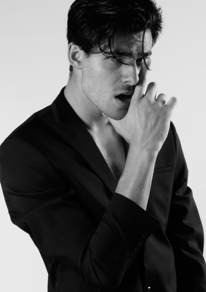 Portraying a beautiful new face Pablo Herrera by Carlos Buenos for Inboga. Clothes by Marioteo and hair/make up by Maleni Barquin.