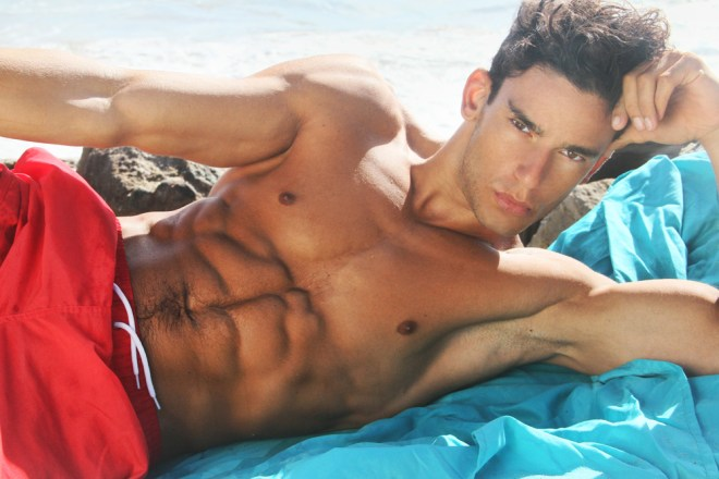 Yes we have a sensational second part of this hunk male model Paul Alex Molnar shooting by talented Ray John Pila. Exquisite beach set, beautiful lighting and natural backdrop LA beach.