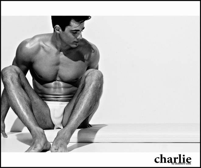 "Italian stunner Pietro Boselli aka the ""world's hottest math teacher"" reunites with 'Charlie by Matthew Zink' for its Classics collection, marvellously shot in black & white."