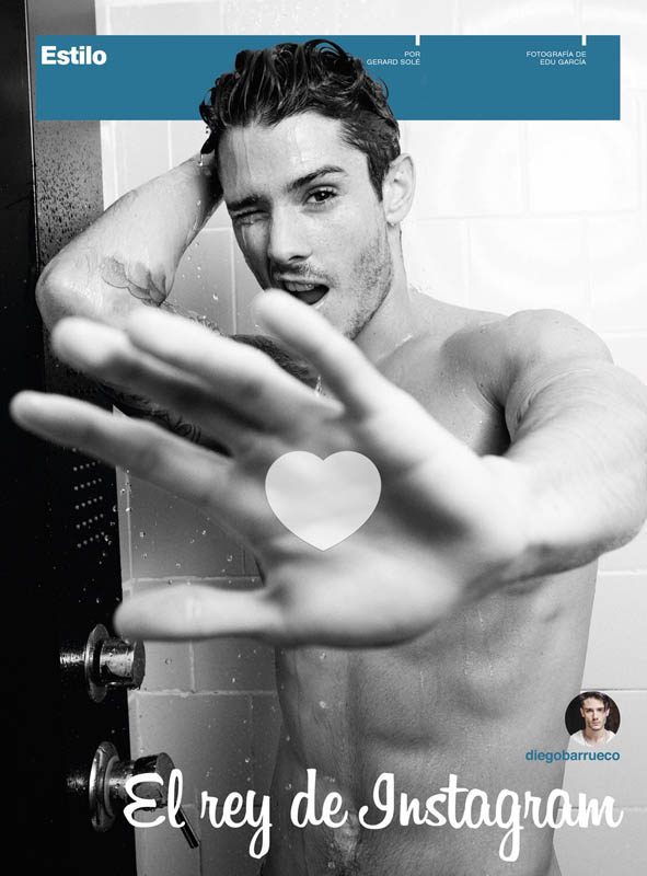 """Spanish sensation Diego Barrueco is the 'King of Instagram' """"El Rey de Instagram"""" editorial for Men's Health España November 2015 photography by Edu García"""