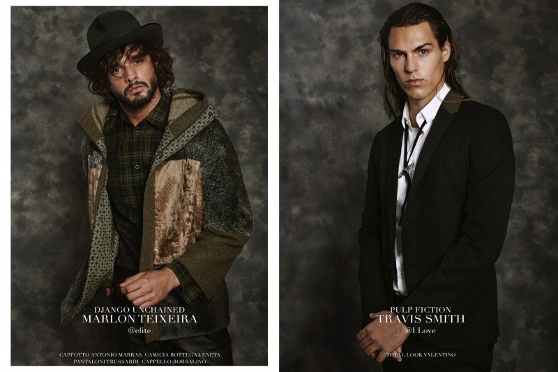 "Marlon Teixeira as ""DJango Enchained"" and Travis Smith as ""Pulp Fiction"""