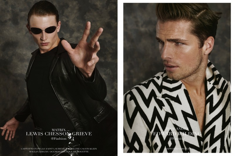 Lewis as Matrix and Edward as Zoolander