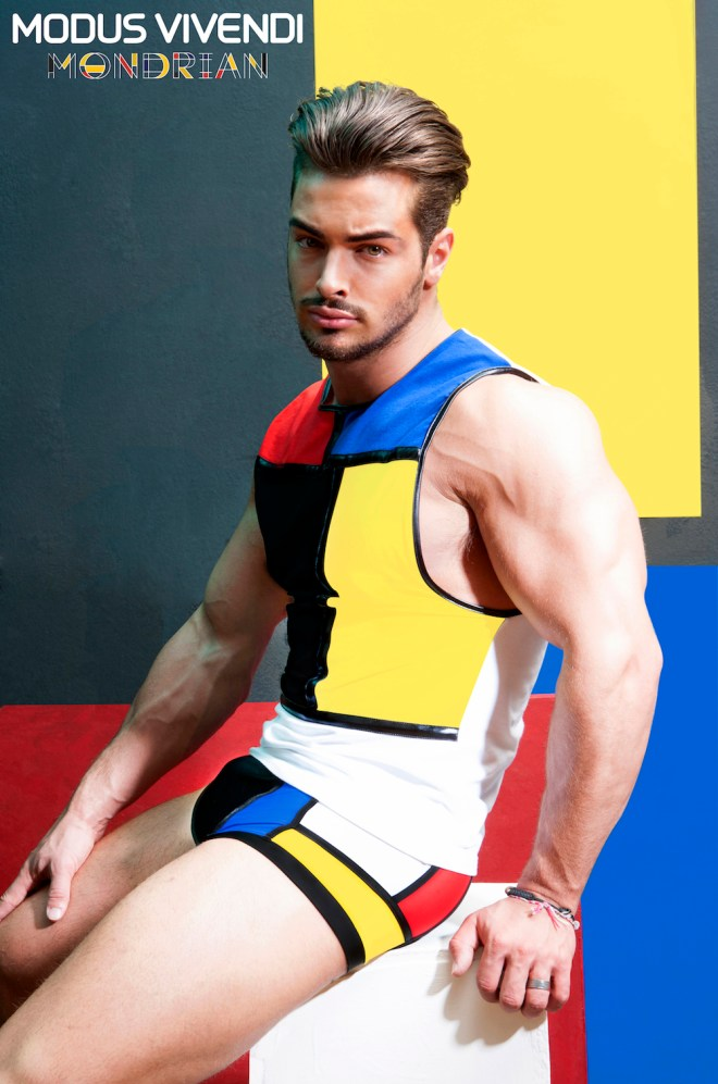 In response to the runaway success of its 2015 swimwear line, which included new Mondrian Brief and Brazil Cut swimwear, Modus Vivendi has brought out a whole new Mondrian-inspired line of underwear and sportswear for its Autumn/Winter 2015-2016 collection.