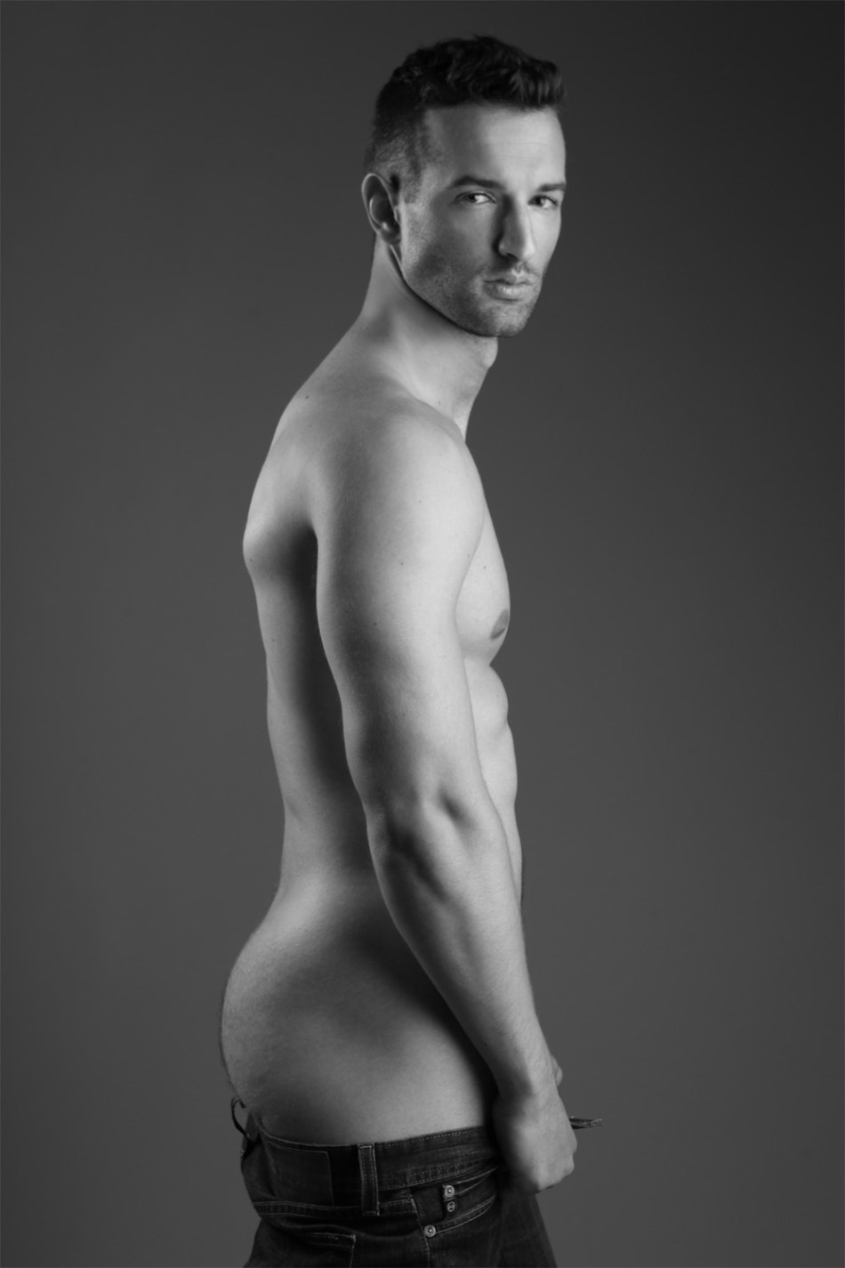 Striking newcomer Jay Wagner teams up with photographer Michael Dar for an eye-catching portrait series.