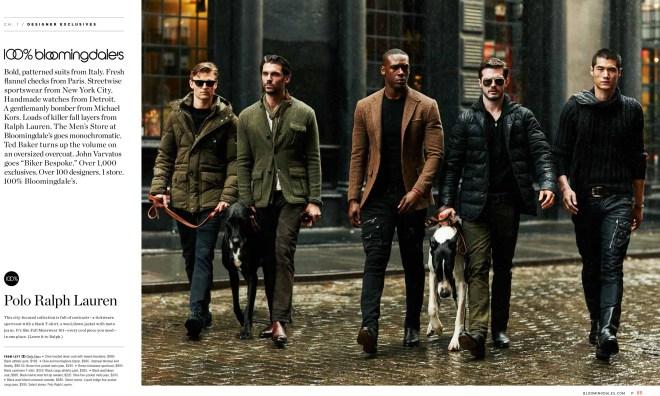 Promotional ad shots 100% Bloomingdale's Menswear Fall 2015 exposing at models.com