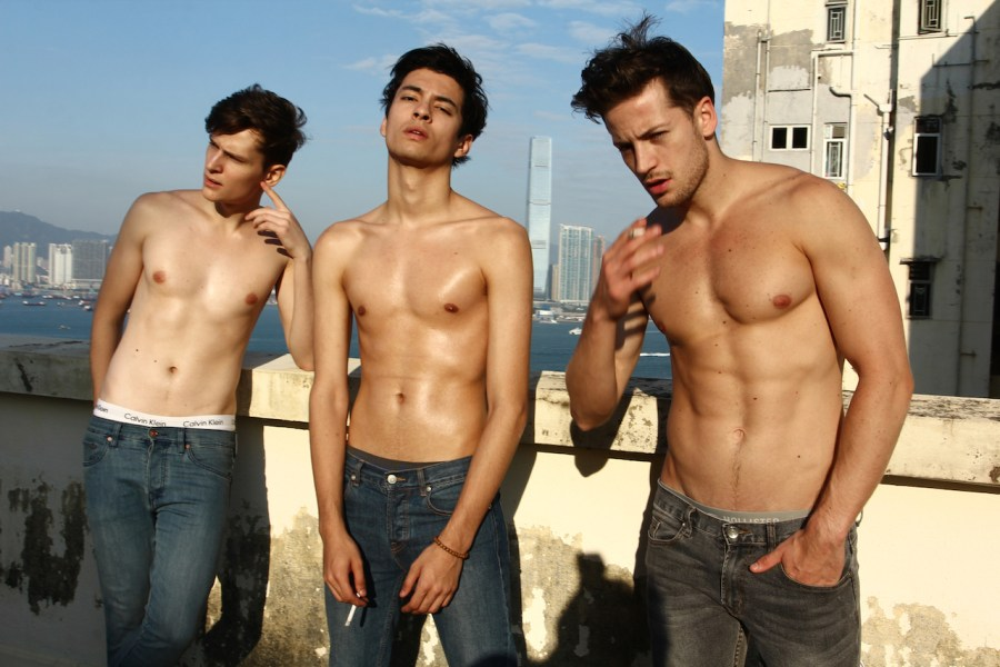 Max, Liam & Antonny from PRIMO Mgmt these buddies having a sexy real prime time in Sai Ying Pun, Hong Kong, shot by talented Santy Calalay