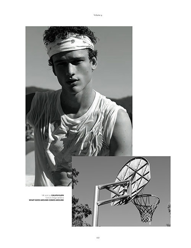 Top model Simon Nessman is the cover star of At Large magazine as he's shoreside for the lens of Randall Meson and stylist Bill Mullen. He's with Soul Artist Management.