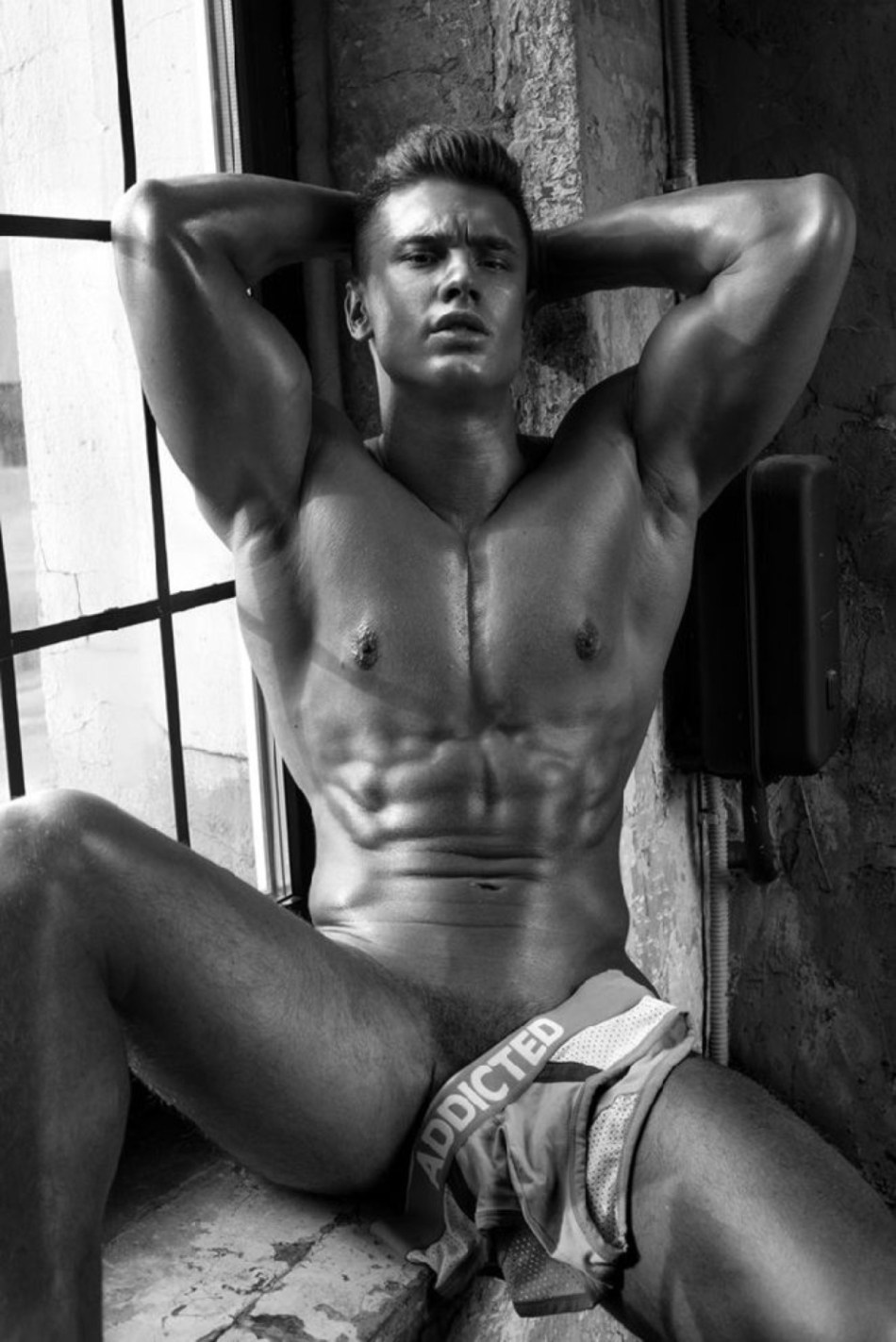 Find out why Russian adonis Alexander Kalmykov is posing in raw hot images captured by Damir Zhukenov.