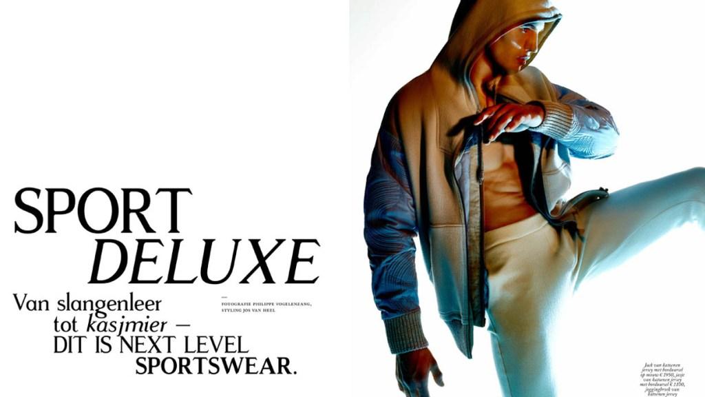 Sport Deluxe' for Vogue Man Nederland. Photographer: Philippe Vogelenzang. Styling by Jos van Heel.