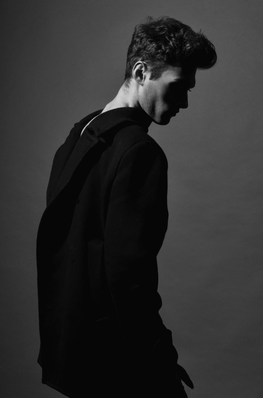 Portraying North Wales based model Aaron Robinson from Nemesis Models, photographer Malc Stone captured natural sense in black and white.