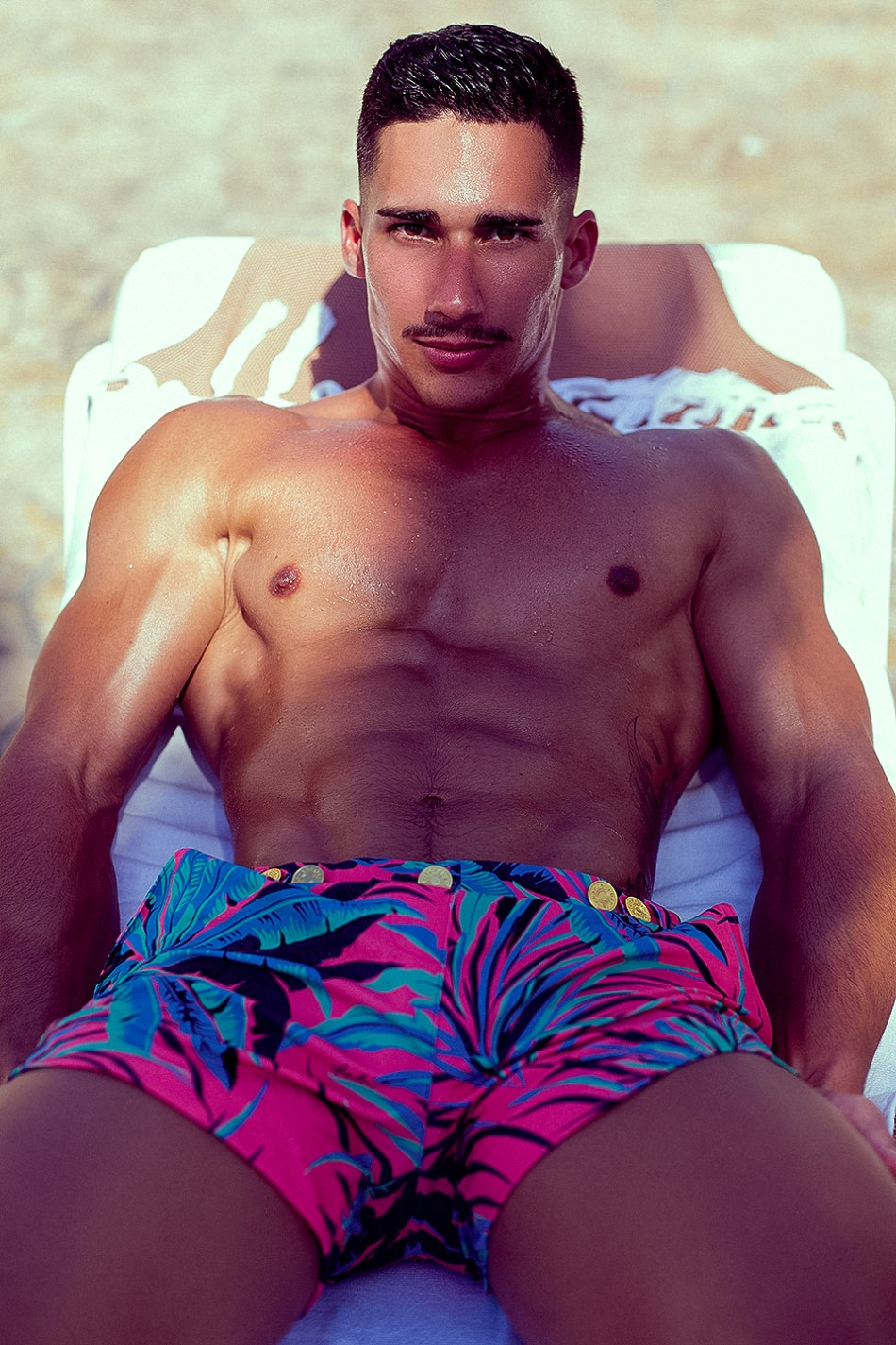 I think not all people is allowed to modeling Charlie by MZ pieces, I mean just this kind of guys who possess demigod bodies like Gabriel Arocha photographed by Adrian C. Martin for the exclusive swimwear brand.