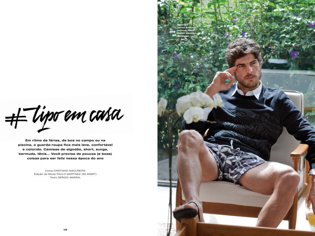 #Trip Em Casa editorial shot by Cristiano Madureira featuring model Evandro Soldati Fashion Editor: Paulo Martinez. Hair/Make Up: Paula Vida, for L'Officiel Hommes Brazil #08.