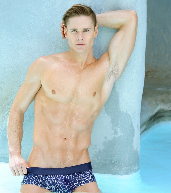 Do you know him? Come on and meet Dustin Distenfield by Matthew Mitchell shooting in Palm Springs in luxury garments and stunning sexy swimwear pieces from Marcuse, Gucci, N2N Bodywear, Daniel Alexander, Cleaver, Armani, some itmes from John Varvatos and TOPMAN.