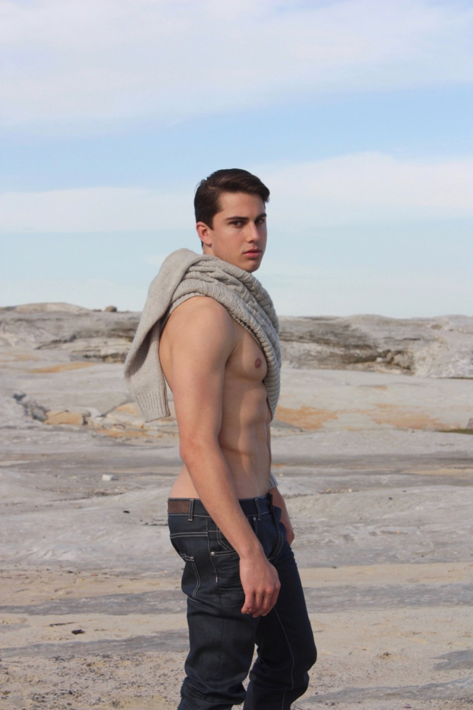 The handsome Matt Roskvist beautifully portrayed in the great outdoors by photographer Paul Smollen.